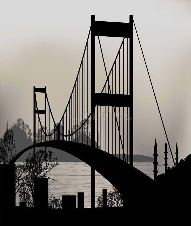 Istanbul bro vektor illustrationer