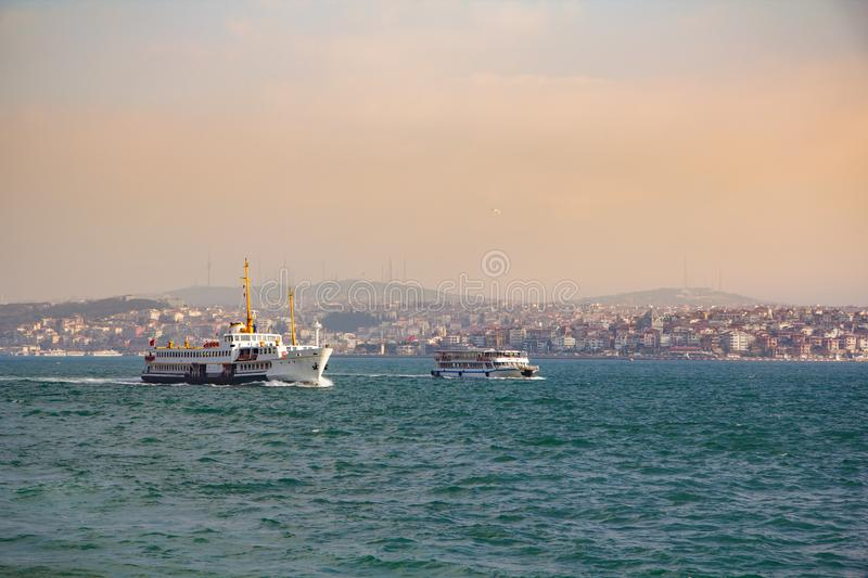 Istanbul the capital of Turkey.  royalty free stock image
