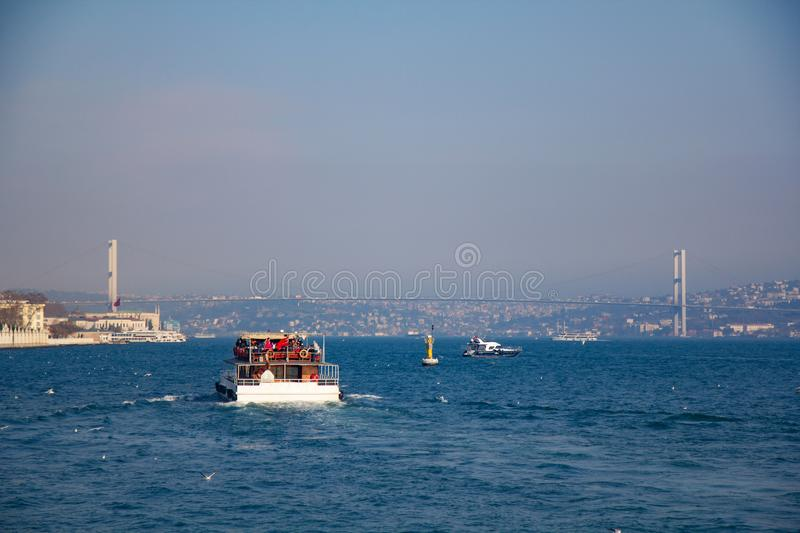 Istanbul the capital of Turkey.  royalty free stock images