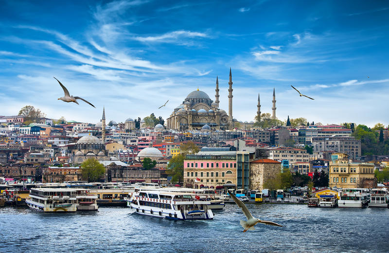 Istanbul the capital of Turkey. Eastern tourist city royalty free stock photography