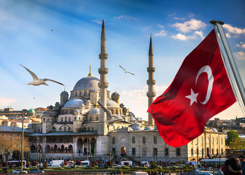 Istanbul the capital of Turkey. Eastern tourist city stock photography