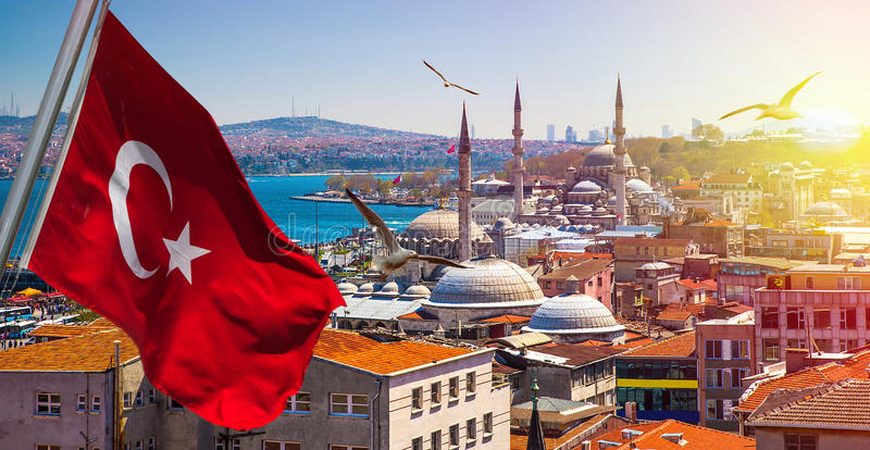 Istanbul the capital of Turkey. Eastern tourist city royalty free stock images