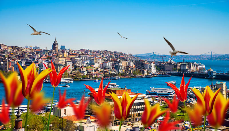 Istanbul the capital of Turkey. Eastern tourist city stock image