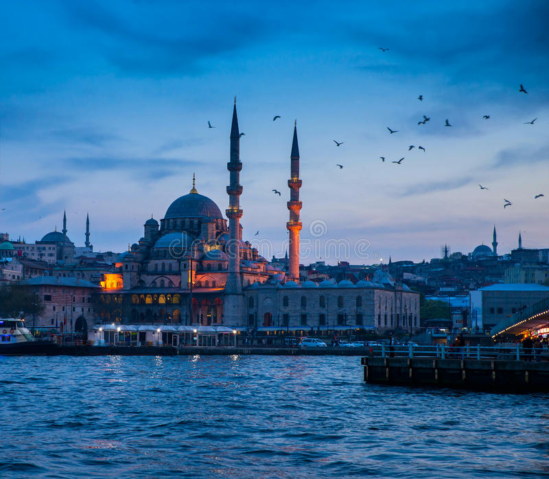Istanbul the capital of Turkey. Eastern tourist city stock images