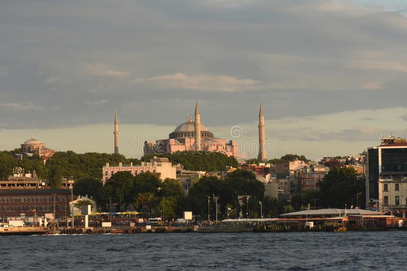 Istanbul the capital of Turkey, eastern tourist city. Nbeach scene cruise turkey tower mediaeval destination coast travel view turkish peninsula stock image