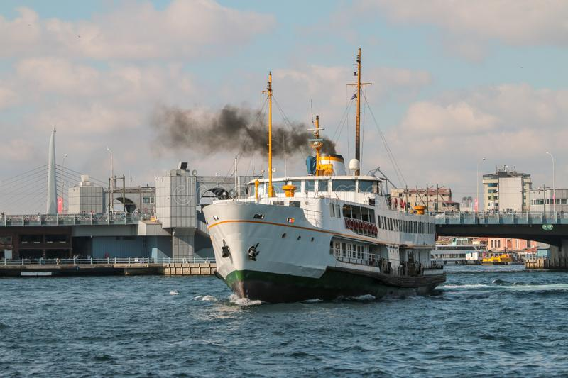 Istanbul city lines passenger ferry royalty free stock images