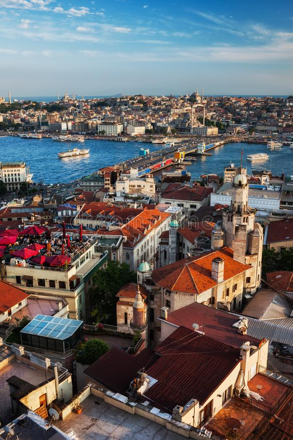 Istanbul City Sunset Cityscape royalty free stock image