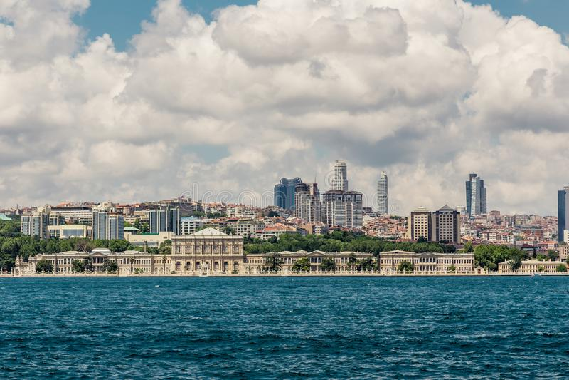Istanbul, die Türkei, am 9. Juni 2013: Dolmabahce-Palast stockfoto