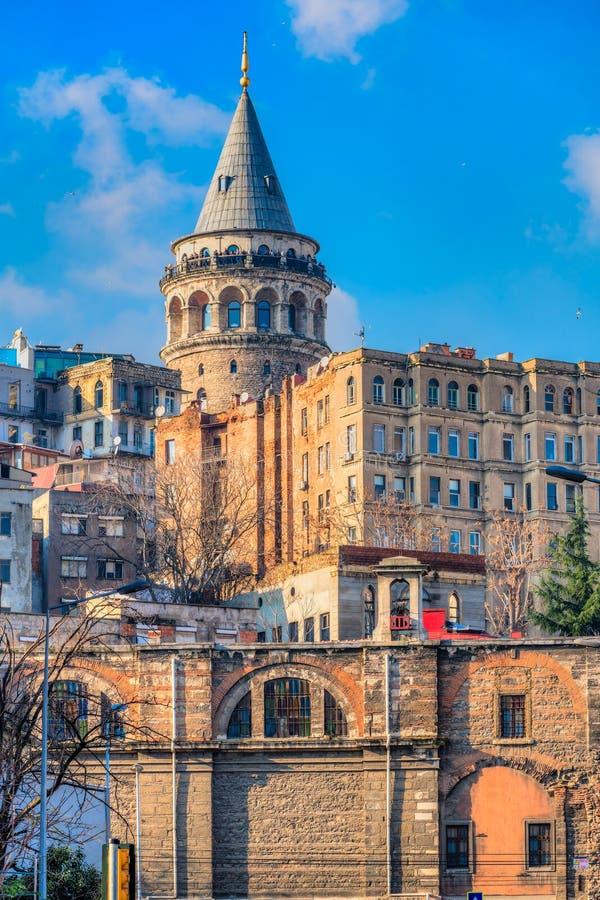 Istanbul - Distretto di Galata, Turchia fotografia stock libera da diritti