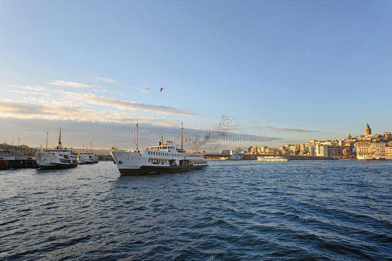 Download Istanbul Galata Brdige And Steamships Royalty Free Stock Images - Image: 13271099