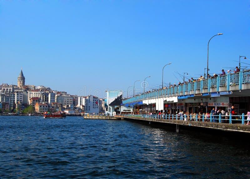 Istanbul - Galata Bridge royalty free stock photo