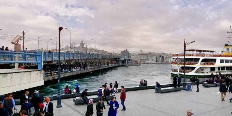 Istanbul Galata Bridge stock photo