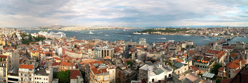 Istanbul Galata district, Turkey. Panoram of Istanbul Galata district, Turkey stock image