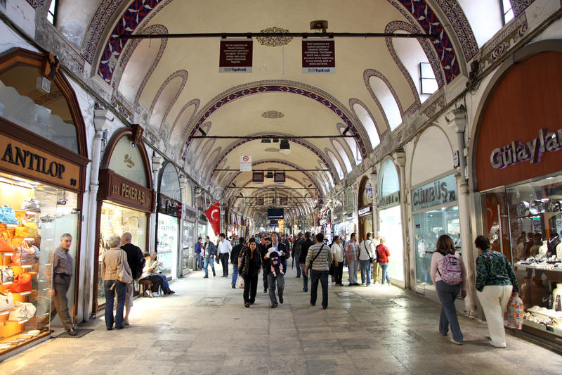 Istanbul Grand Bazaar, Turkey royalty free stock photos