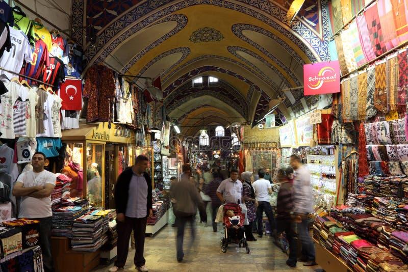 Istanbul-großartiger Basar, die Türkei stockfotografie
