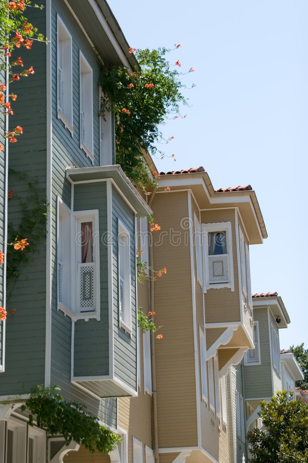 Istanbul homes stock images