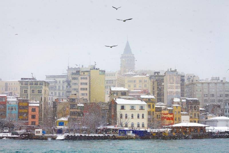 Istanbul im Winter lizenzfreies stockbild