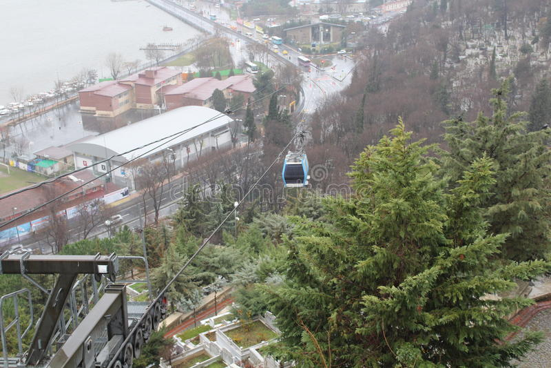 Istanbul-Kabelwarenkorb canlecart Ansicht lizenzfreie stockfotografie