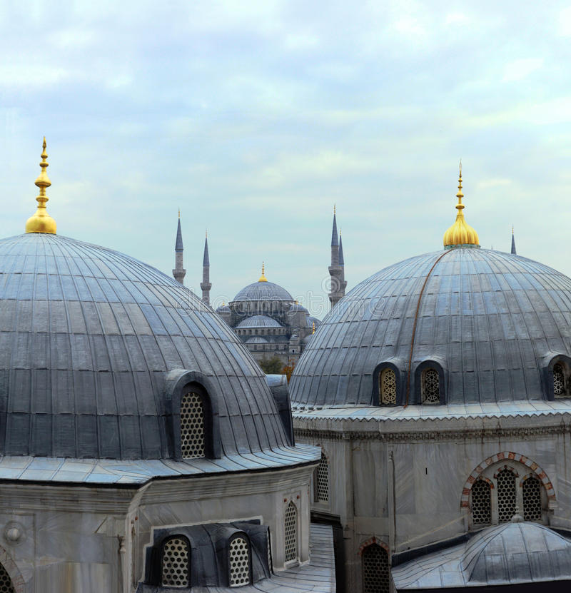 Istanbul kupoler arkivbild