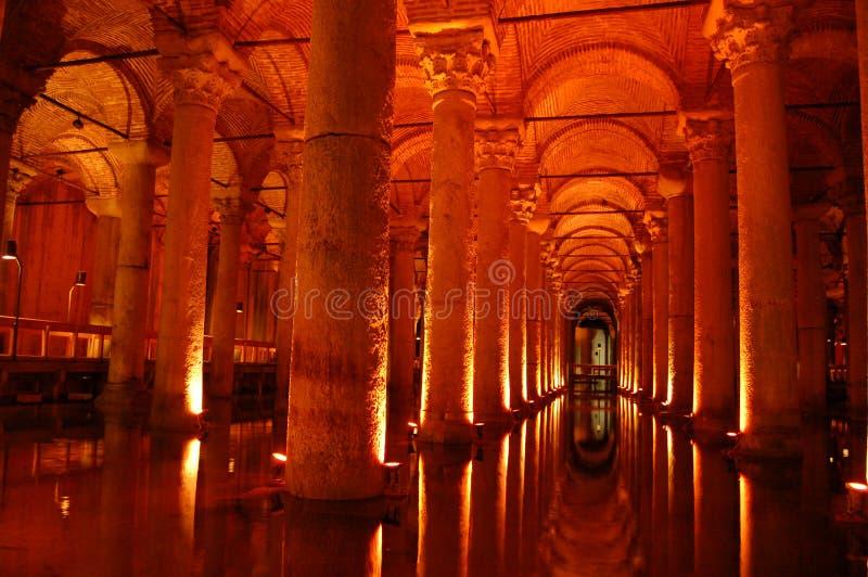 Istanbul landmark sightseeing Yerebatan cisterns stock photo