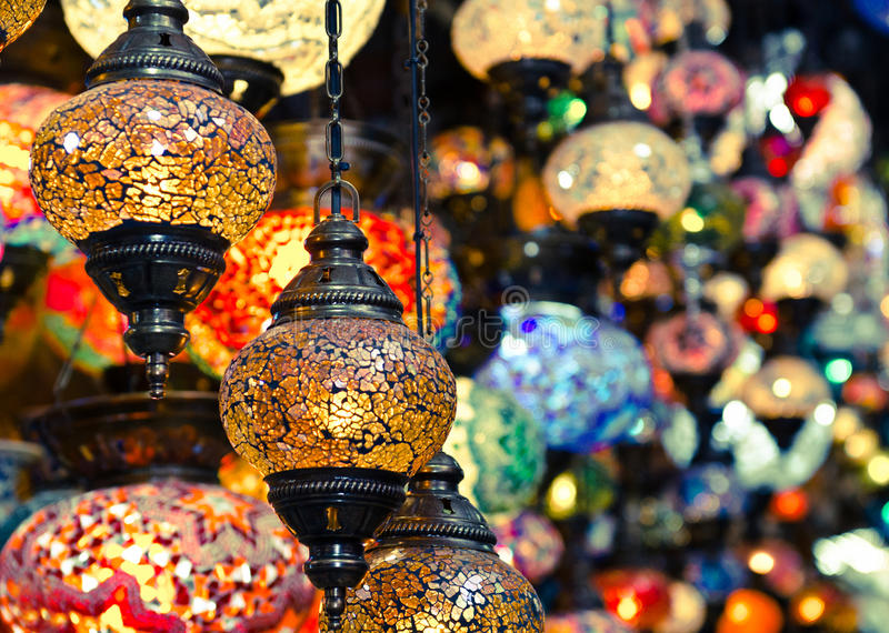 Istanbul lanterns royalty free stock photography