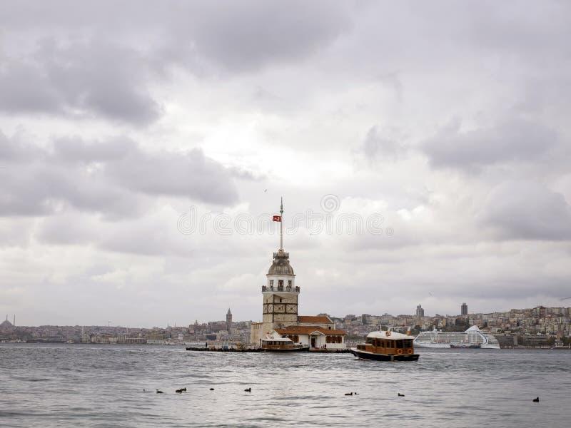 istanbul leanderstorn arkivbilder
