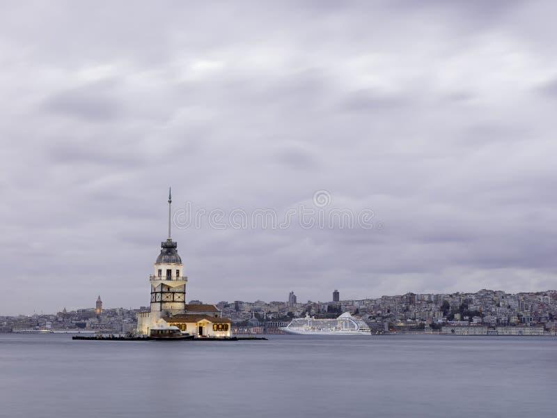 istanbul leanderstorn royaltyfri bild