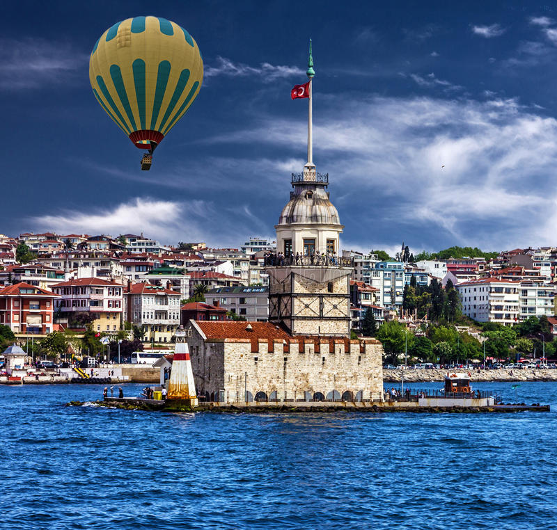 Istanbul Maiden`s Tower, Bosporus, Turkey. Istanbul in Turkey, Maiden`s Tower, Bosporus stock images