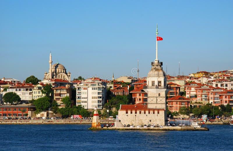 istanbul maiden tower стоковые изображения