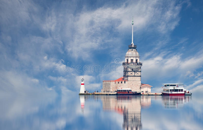 Download Istanbul Maiden Tower stock image. Image of architectural - 38836231