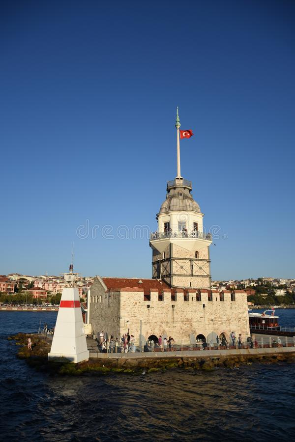 Maiden`s tower stock photography