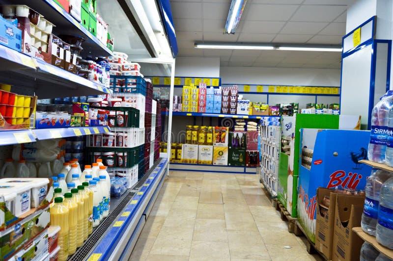 BIM markets chain Istanbul Maltepe. Istanbul Maltepe BIM markets chain, people shopping royalty free stock image