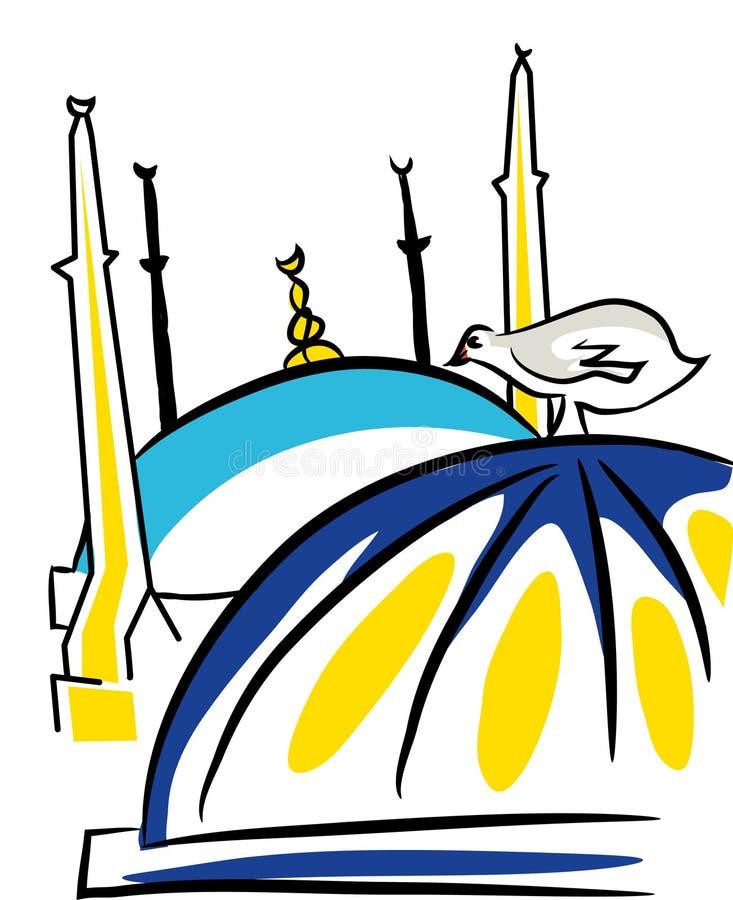 istanbul meczetu royalty ilustracja