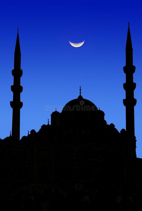 Istanbul moon stock photo