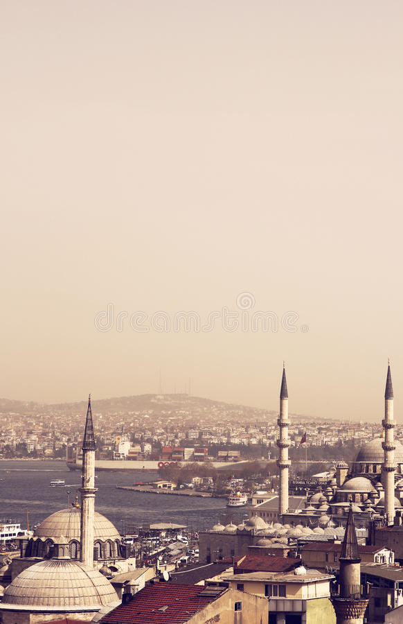 Istanbul moskéer arkivfoton