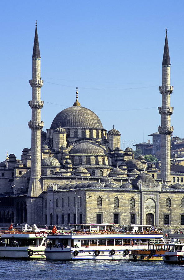 Istanbul mosque Yeni stock images