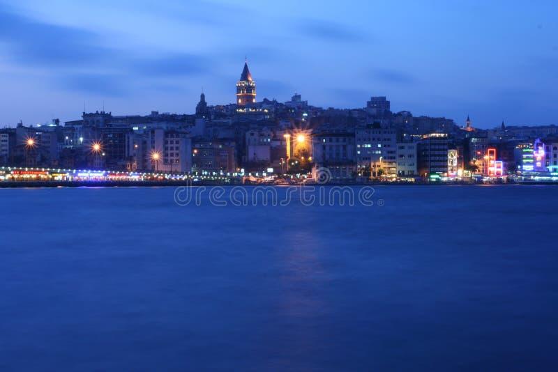 istanbul noc obraz stock