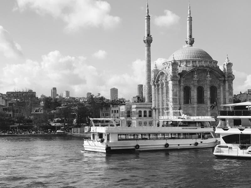 Istanbul noir et blanc images stock