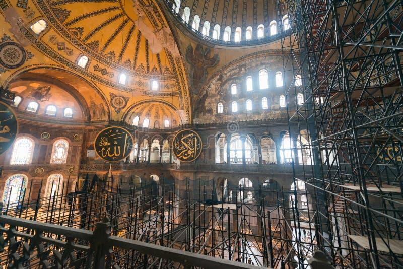 ISTANBUL - 20 NOVEMBRE : Musée de Hagia Sophia, rénovation de l'interi images libres de droits