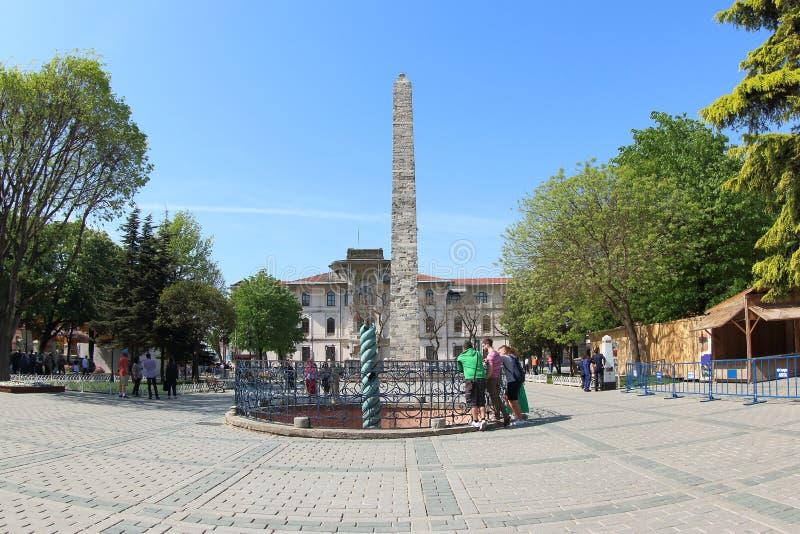istanbul obelisku theodosius zdjęcie royalty free