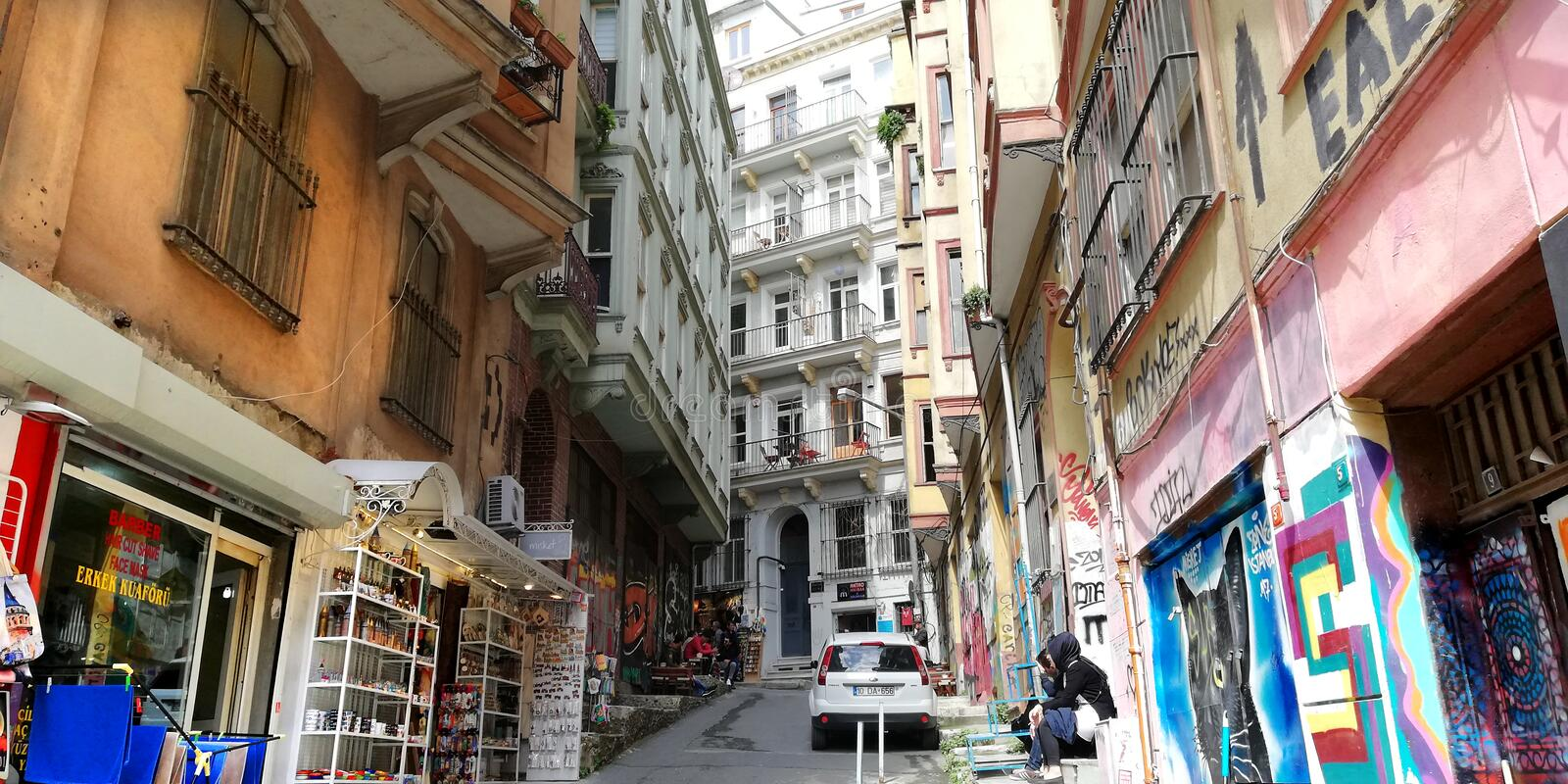 Istanbul old street royalty free stock images