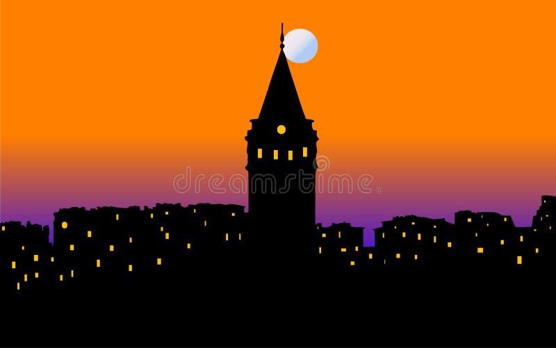 Istanbul otoczenia miasta royalty ilustracja