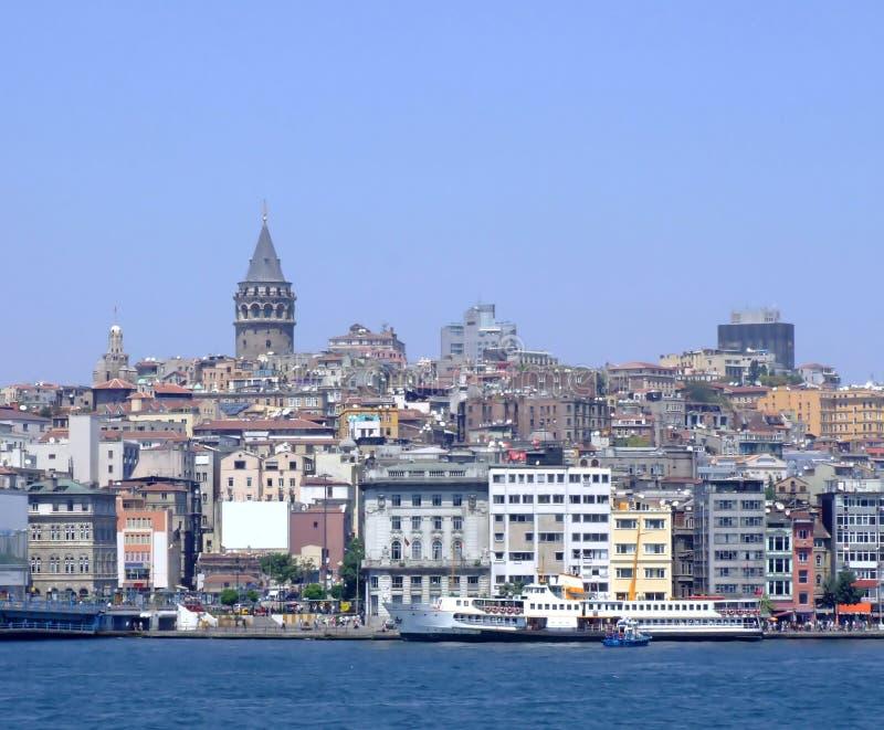 istanbul panorama royaltyfria bilder
