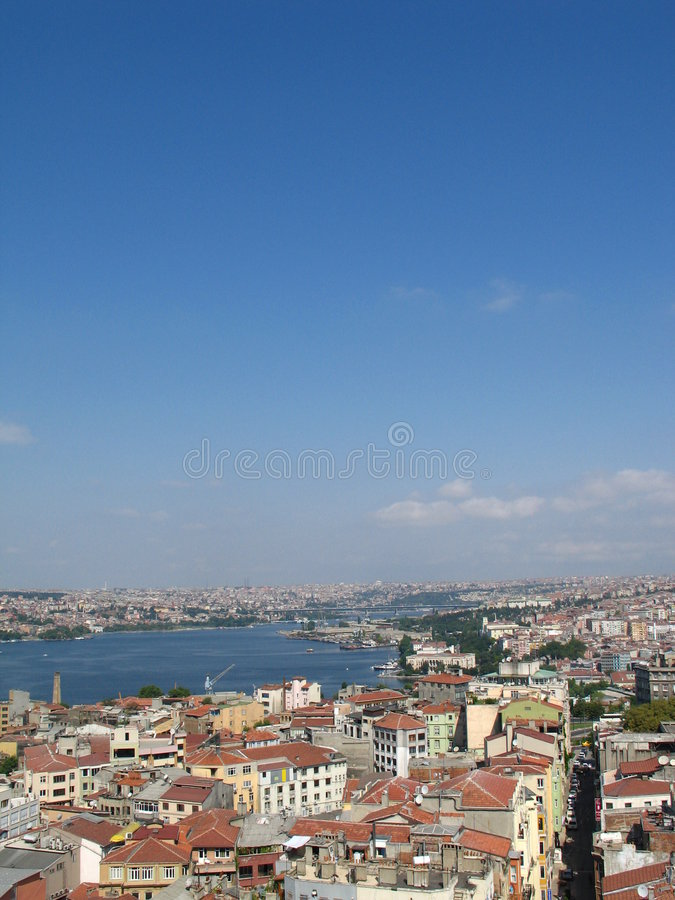 istanbul panorama arkivfoto