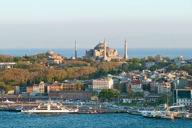 istanbul panorama royaltyfri bild