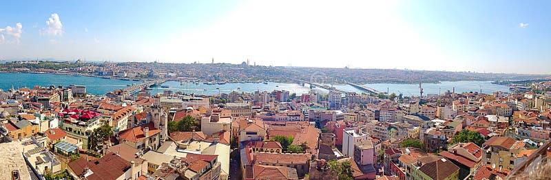 istanbul panorama royaltyfria foton