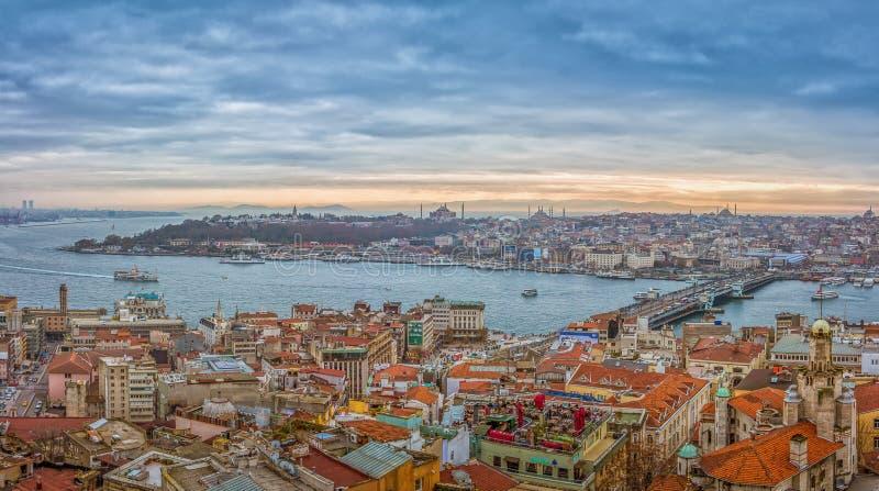 Istanbul-Panorama lizenzfreies stockfoto