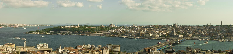 istanbul panorama- sikt royaltyfria bilder