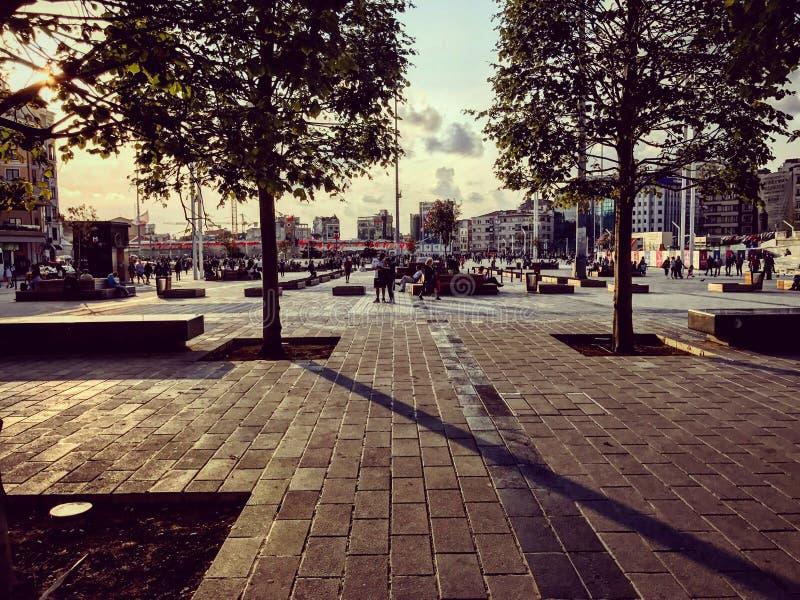 Istanbul parkerar Taksim royaltyfri fotografi