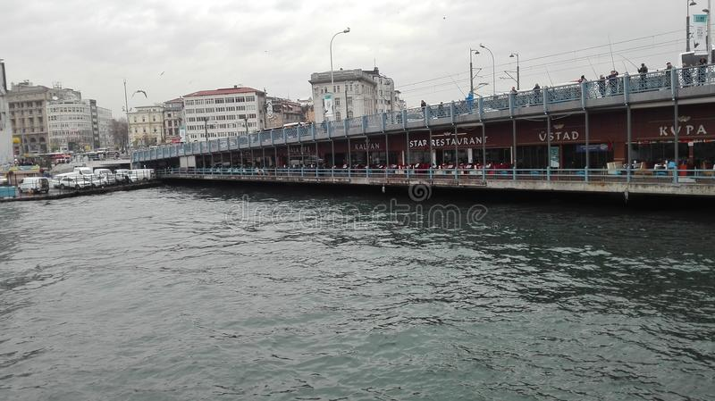 Istanbul-posfor, Seewinter, Truthahn lizenzfreie stockfotografie